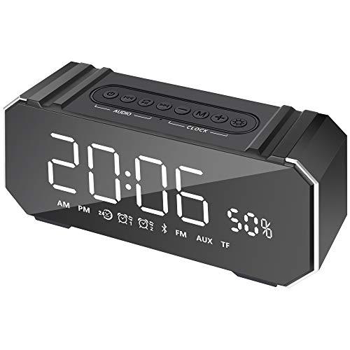 Xigeapg Tragbarer Lautsprecher 10W Drahtloser Stereo Soundbar Stütz Zeit Anzeige Wecker Fm Radio - Ihome-radiowecker