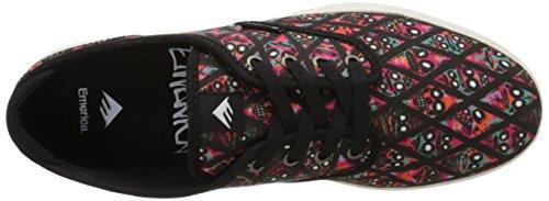 Scarpa uomo Skate Cruiser Lt X Fos Wino Emerica Skate Shoes Nero (black/print)