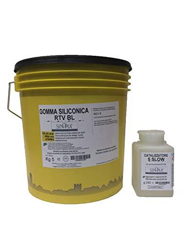 GOMMA SILICONICA COLABILE RTV/BL per calchi - conf. 5,250 Kg
