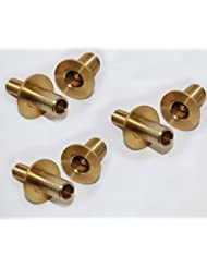 JOBLOT OF 3 (THREE) BRASS JOINTS FOR POOL SNOOKER CUE QUICK RELEASE / JOINT 26.5 MM DIAMETER