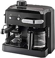 ماكينة كومبي تحضير قهوة الاسبرسو مع فلتر BCO320 ، من ديلونجي ، أسود
