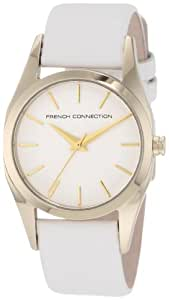 French Connection Women's FC1039GW Classic Round Gold White Watch