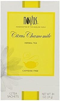 Novus Citrus Chamomile Herbal Tea, Caffeine Free, 12 Count Tea Bags