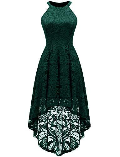 Dressystar Damen Cocktail Kleid, Geblümt Gr. Small, grün - Cocktail Kleider Frauen Grüne Für