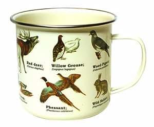 Gift Republic Mug en émail Motif animaux sauvages Multicolore