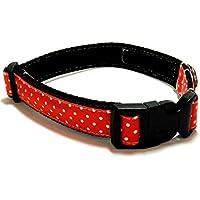 mit Steckschlie/ße und D-Ring DACKEL AUF GRAU Gr/ö/ße: M Breite: 2 cm 27 cm bis ca 46 cm Hunde-Halsband KonsumSchwestern Hundehalsband braun mit L/änge verstellbar von ca