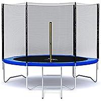 MALATEC Gartentrampolin Outdoor Trampolinmit Sicherheitsnetz und Leiter bis 150 kg Komplettset inkl.Außennetz 180/305/366cm 2215, Größe:180-183 cm