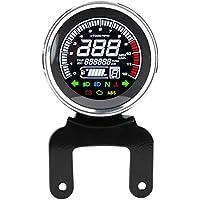 Velocímetro del cuentakilómetros de la motocicleta, LCD Cuentakilómetros digital Velocímetro Tacómetro Indicador del medidor del nivel de combustible