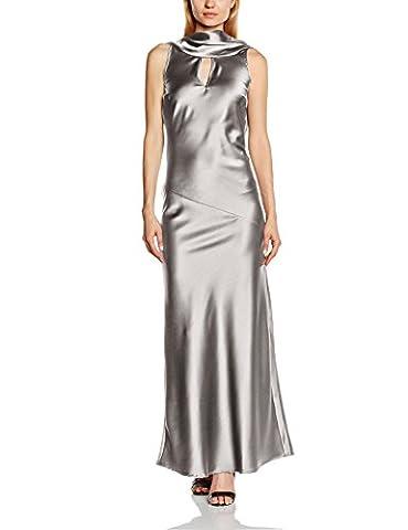 HotSquash Silky Cowl Neck - Robe - Soirée - Sans Manche - Femme - Argenté (Silver Metallic) - 38 (Taille fabricant: 10)