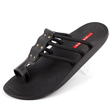 Stivali inverno delle donnePU piuma casuale zeppa, sandali neri, US8 / EU40 / UK7 / CN41 sandali US7 / EU39 / UK6 / CN39