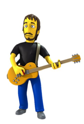 NECA Simpsons 25th Anniversary - Pete Townshend 12,5 cm Action Figure Series 2 1