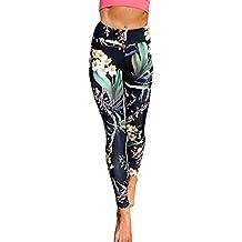 Bigood Élastique Pantalon Sport Imprimé Fleur Femme Legging Yoga Course 8c6c5d276122