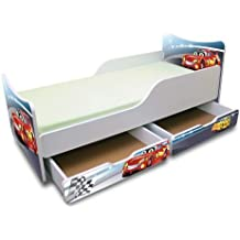 BEST FOR KIDS KINDERBETT 90x200 MIT ZWEI SCHUBLADEN CARS II