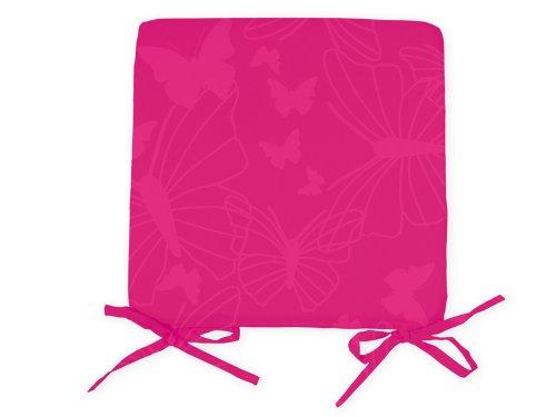 Soleil-dOcre-5492-Dessus-de-Chaise-Imprim-Papillon-Polyester-Rose-Fuchsia-40-x-3-x-40-cm