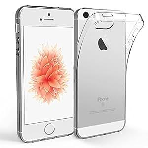 Coque iPhone 5s/ 5 / SE, NEWC® Case Housse Etui protection en gel silicone tranparente Anti