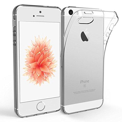 NEW'C iPhone 5S/5/SE Hülle, [Ultra transparent Silikon Gel TPU Soft] Cover Case Schutzhülle Kratzfeste mit Schock Absorption und Anti Scratch für iPhone 5S/5/SE