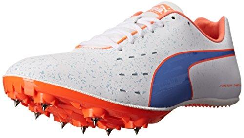 Puma Tfx Sprint V5 Leichtathletik-Schuh White/Ultramarine/Fluorescent Peach Co