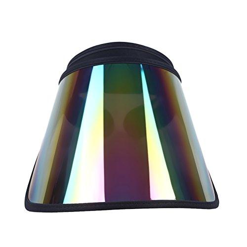VORCOOL PVC-Anti-UV-Laser-Sonnenblende-Kappe justierbarer Sport-Sonnenhut für Reise-Übungen (Mehrfarben)