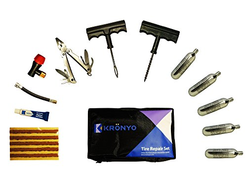 co2-car-tyre-repair-kit-by-kronyo-for-motorcycle-bike-atv-quad-van-with-x-5-cartridges