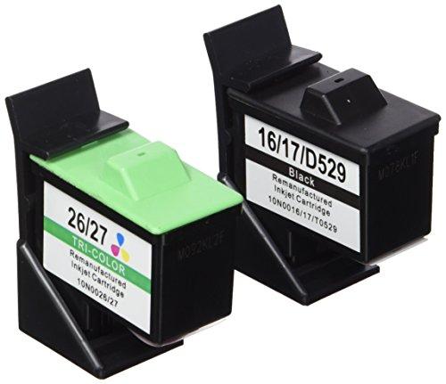 Prestige Cartridge No 16/26 4er Pack Druckerpatronen für Lexmark i3 X 1100 1150 1180 1240 1250 1270 1290 2250 X74 X75 Z13 Z23 Z24 Z25 Z33 Z34 Z515 Z602 Z605 Z640 Compaq IJ650 IJ652 schwarz dreifarbig -