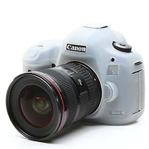 Etui Coque de protection en silicone pour appareil photo Canon EOS 5d Mark 3 films de protection d'écran Transparent