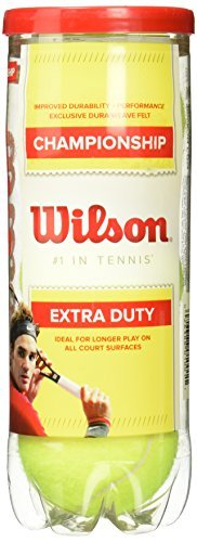 Wilson Championship Extra Duty Tennis Ball, 10332, gelb, 12-Can -