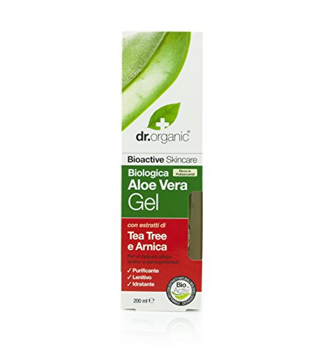 Dr.Organic Aloe Vera Gel Corpo Aloe e Tea Tree 200 ml