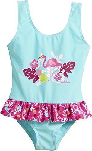 Playshoes Mädchen Badeanzug UV-Schutz Flamingo, (Türkis 15), 98 (Herstellergröße: 98/104)