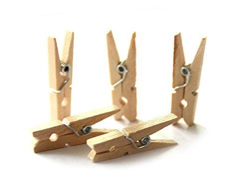 100pcs Mini originale in legno Craft clip 4,8cm vestiti carta fotografica PEG mollette