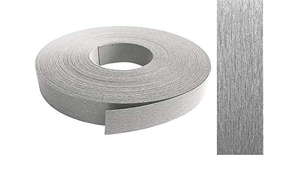 Kantenumleimer Melamin 45mm x 50m mit Schmelzkleber in Edelstahl VA optik Dekor