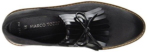 Marco Tozzi Premio 24731, Mocassini Donna Nero (Black Ant.comb)