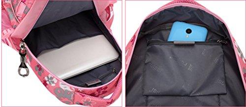 Longzibog Dual verstellbare Schultergurte und Hängeschlaufenband Mode Maedchen Rucksack Schulranzen Schwarz