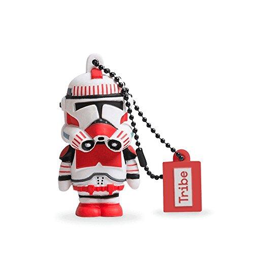Tribe Disney Star Wars Shocktrooper USB Stick 8GB Speicherstick 2.0 High Speed Pendrive Memory Stick Flash Drive, Lustige Geschenke 3D Figur, USB Gadget aus Hart-PVC mit Schlüsselanhänger – Weiss