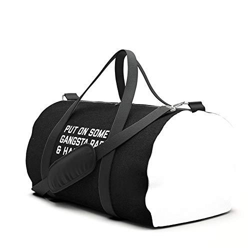 Yesliy Gangsta Rap Funny Quote Sporttasche Reisetasche Handgepäck für Frauen und Männer