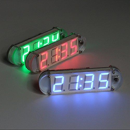 FleißIg Mini Diy 4-digit Digital Led Uhr Kit Mit Transparent Fall Komponenten Eletronic Diy Kit Messung Und Analyse Instrumente Werkzeuge