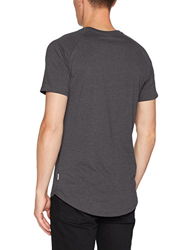 JACK & JONES Herren T-Shirt Jcorafe Tee SS Crew Neck NOOS Grau (Dark Grey Melange Fit:Reg)
