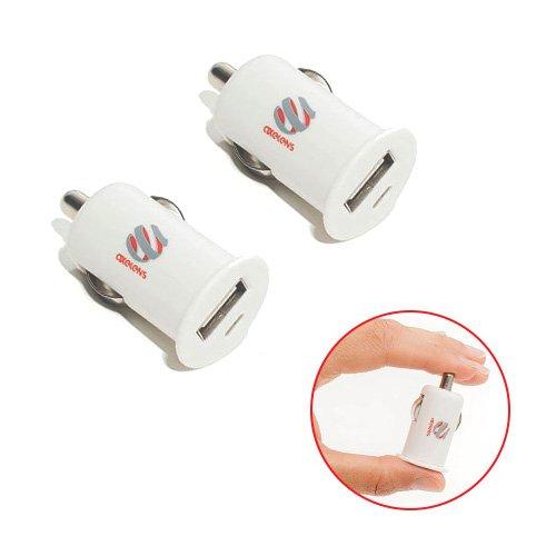 (SET DUE PEZZI) ADATTATORE AXELENS CARICATORE USB AUTO ACCENDISIGARI CARICA IPHONE CELLULARI TABLET SMARTPHONE - BIANCO
