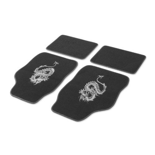 "Universal Auto Fußmatten- Cartrend 1400-03 Textil Fussmatten Set \""Mystery\"", silber, 4-teilig"