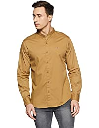 Spykar Men's Solid Slim Fit Cotton Casual Shirt