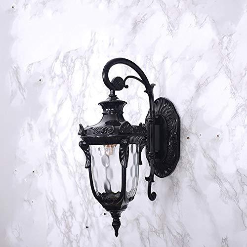 Yaione American Bedside Lantern Wandleuchte 1-Licht Außenwandhalterung Light Inn Rustikal Schwarz mit Frostglas Geeignet for Garage Patio Park Square Wandleuchte Verwenden Sie E27 Lichtquelle Wandleuc -