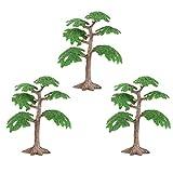 STOBOK Künstliche Große Kiefer Baum Kunststoff Modell Baum Micro Kiefer Bäume für Modellbau, 3 Stücke