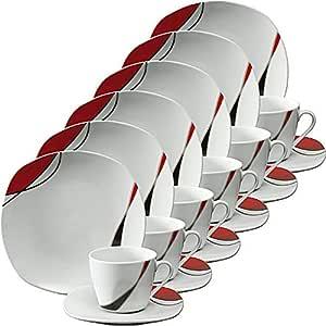 Erwin M/üller Dessertteller 6er-Pack Porzellan braun