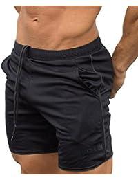 KOLY Pantaloni Sportivi da Allenamento per Uomo Bodybuilding Pantaloncini  Estivi Pantaloni Corti da Allenamento Outdoor Ciclismo 5fae5f4d5f72