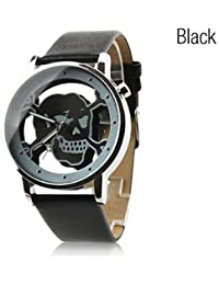 Reloj Pulsera de Diseño de Calavera (Color : Negro , Talla : Una Talla)