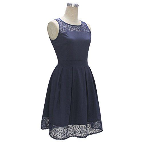 Ecowish - Robe - Femme Bleu - Bleu marine