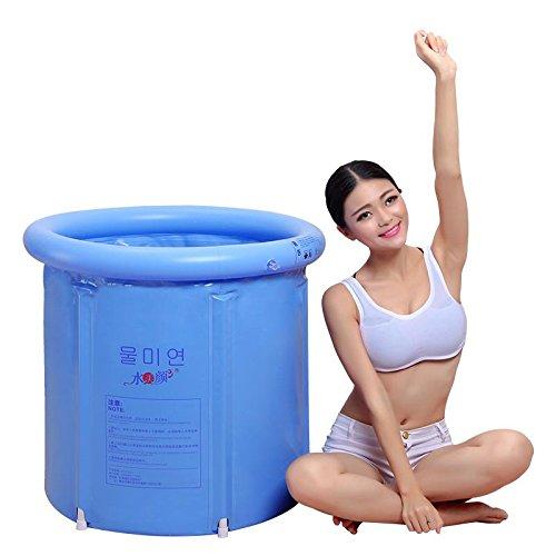 LIVY Faltbare Wanne Badefässern dicken Kunststoff aufblasbare Badewanne Wanne Wanne für Erwachsene und Kinder Baden Fass