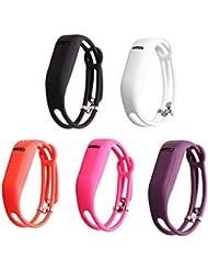 Drizzles paquete accesorio bandas con broches de repuesto para Fitbit Flex pulsera deporte banda de brazo (sin tracker, reemplazo bandas solamente) (nuevo estilo para las niñas, un tamaño), color  - style 2