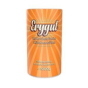 Erygut Basic 1kg / 1000g | Kalorienfreier Zuckerersatz aus Erythrit | natürliches Süßungsmittel für Low Carb | Foodtastic Erythritol Light | zum Süßen von Speisen & Getränken