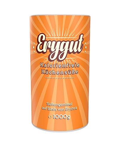 Erygut Basic 1kg / 1000g | Kalorienfreier Zuckerersatz aus Erythrit | Süßungsmittel zum Süßen von Speisen & Getränken | Foodtastic Erythritol Light
