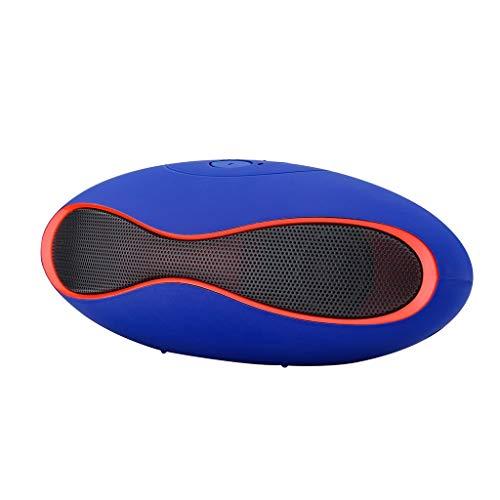 SO-buts Mini-X6U Bluetooth Lautsprecher, Drahtlose Stereo Fußball Lautsprecher, Unterstützungs TF Karte, USB,Mit Rutschfester Basis,für Smartphone,Tablet PC (Blau) (Sony Mini-stereo-lautsprecher)